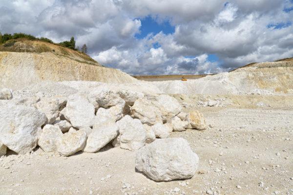 Limestone quarry in Faxe, Denmark